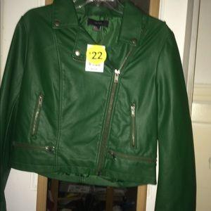 Forever 21 Green Moto Jacket
